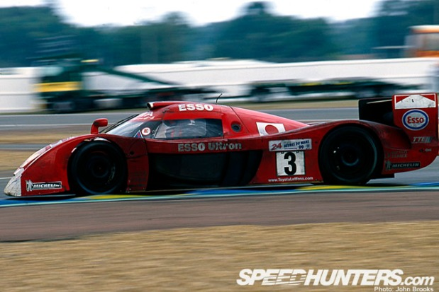 1999, on the way to second place overall with the Toyota GT-One
