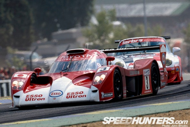 1999. Early in the race for the Toyota Gt-One.