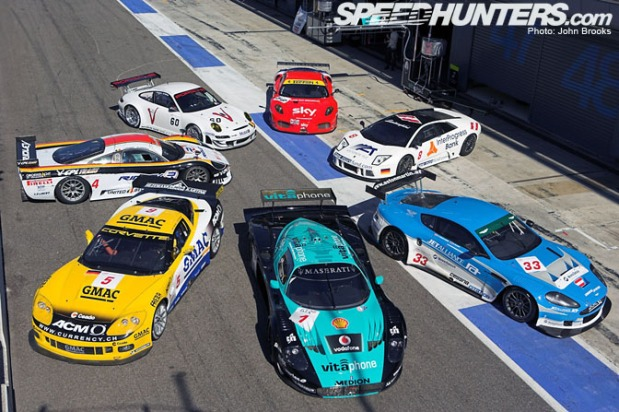 The line of models for the 2008 FIA GT Championship